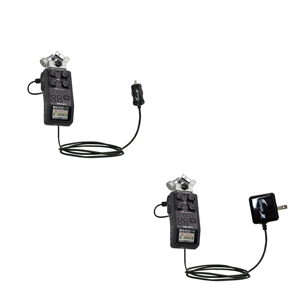 Car & Home Charger Kit compatible with the Zoom H6