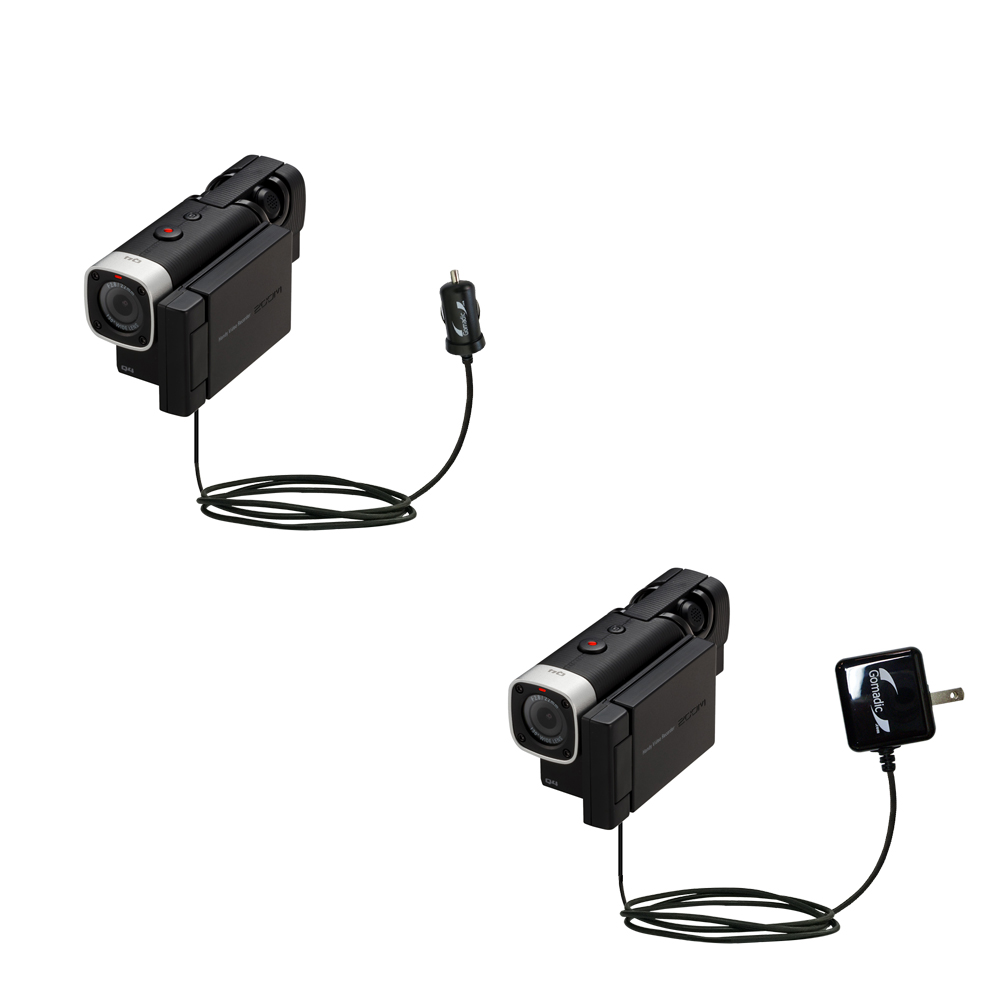 Car & Home Charger Kit compatible with the Zoom Q4