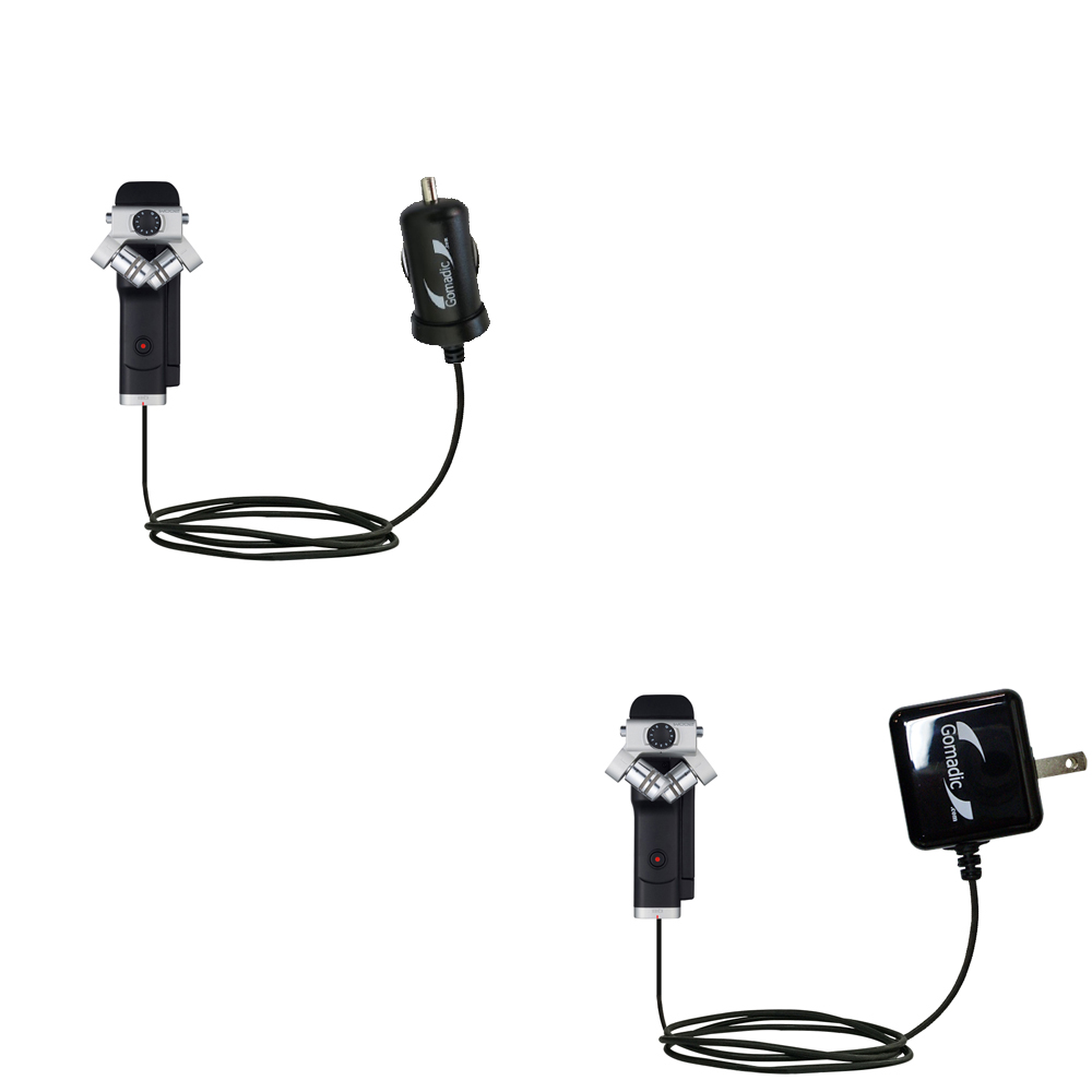 Car & Home Charger Kit compatible with the Zoom Q8 Handy Video Recorder