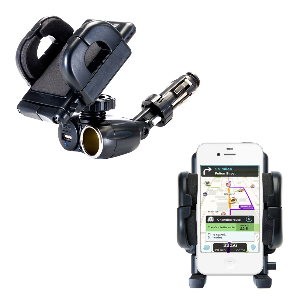 Cigarette Lighter Car Auto Holder Mount compatible with the Apple iPhone 4