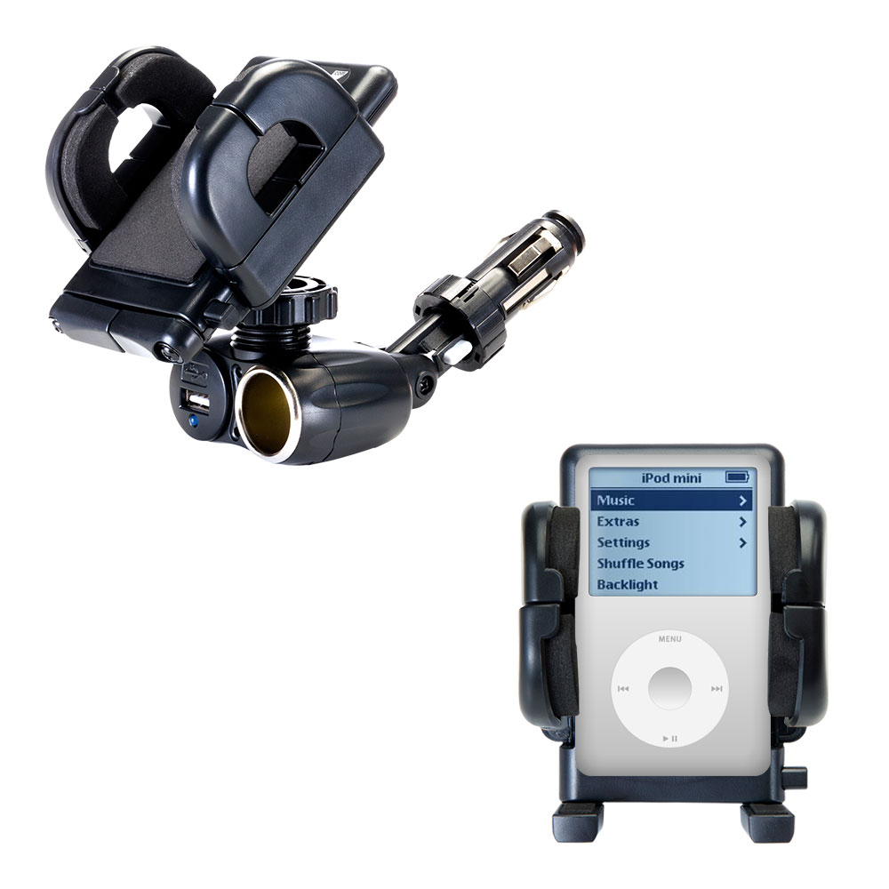 Cigarette Lighter Car Auto Holder Mount compatible with the Apple iPod 4G (20GB)