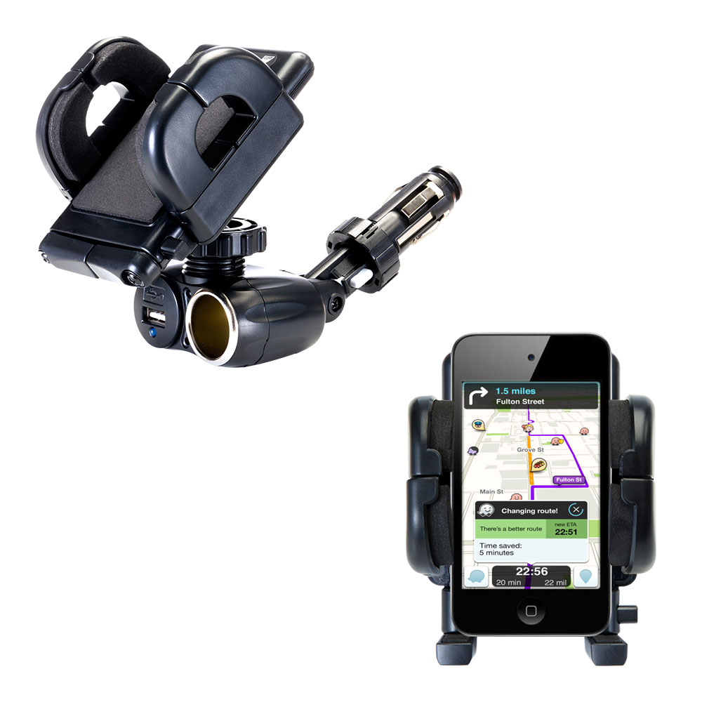 Cigarette Lighter Car Auto Holder Mount compatible with the Apple iPod touch (4th generation)