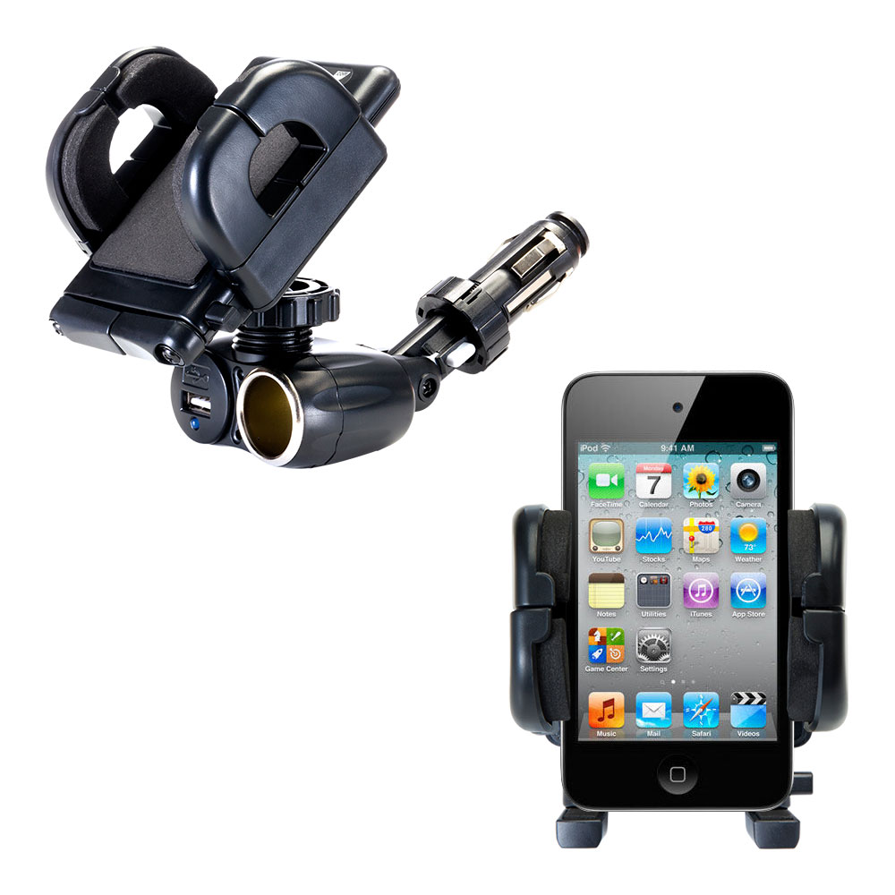 Cigarette Lighter Car Auto Holder Mount compatible with the Apple iPod touch