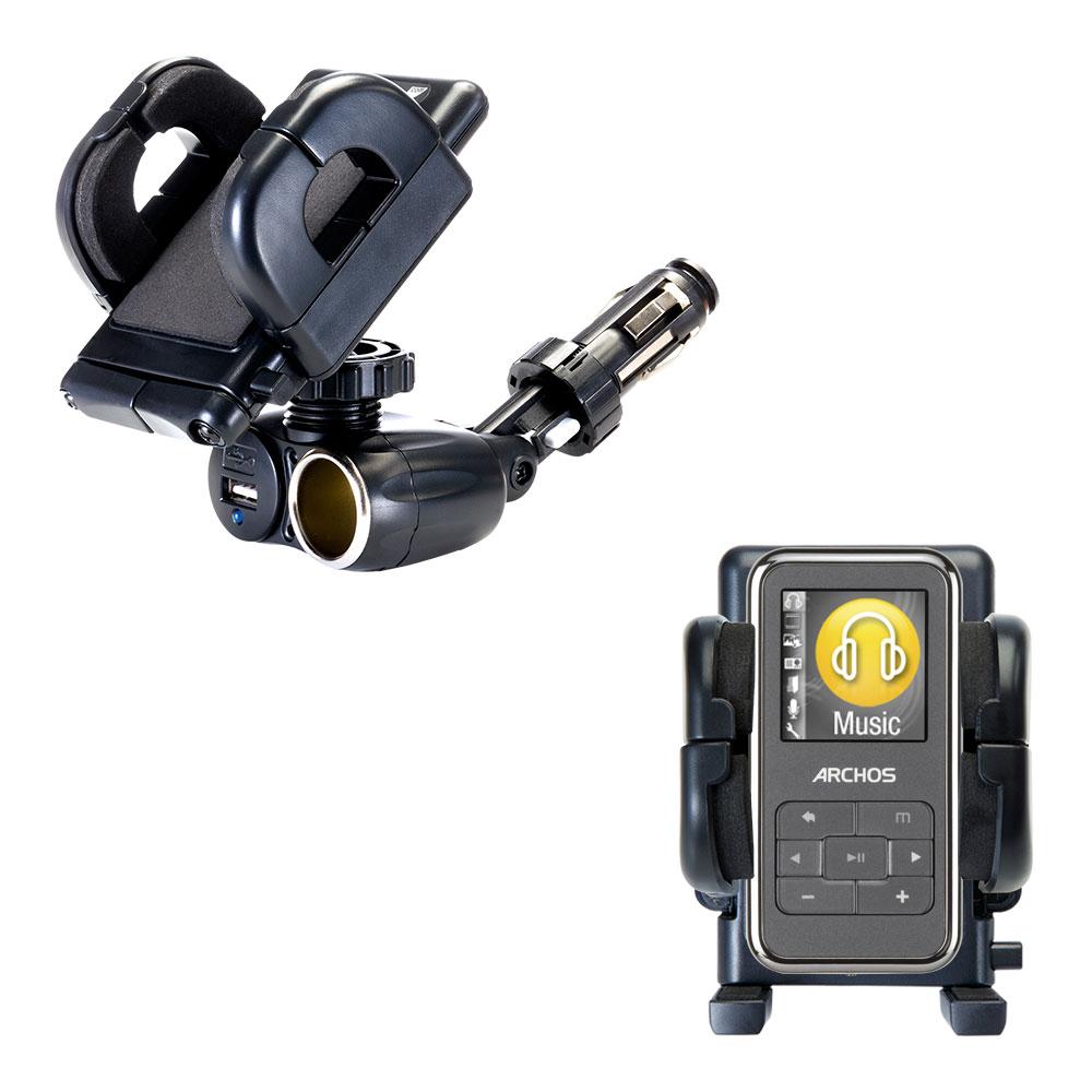 Cigarette Lighter Car Auto Holder Mount compatible with the Archos 15 15b Vision A15VS