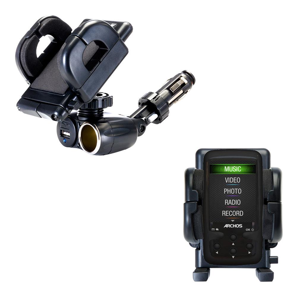 Cigarette Lighter Car Auto Holder Mount compatible with the Archos 24 Vision AV24VB