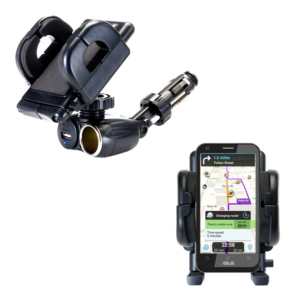 Cigarette Lighter Car Auto Holder Mount compatible with the Asus PadFone