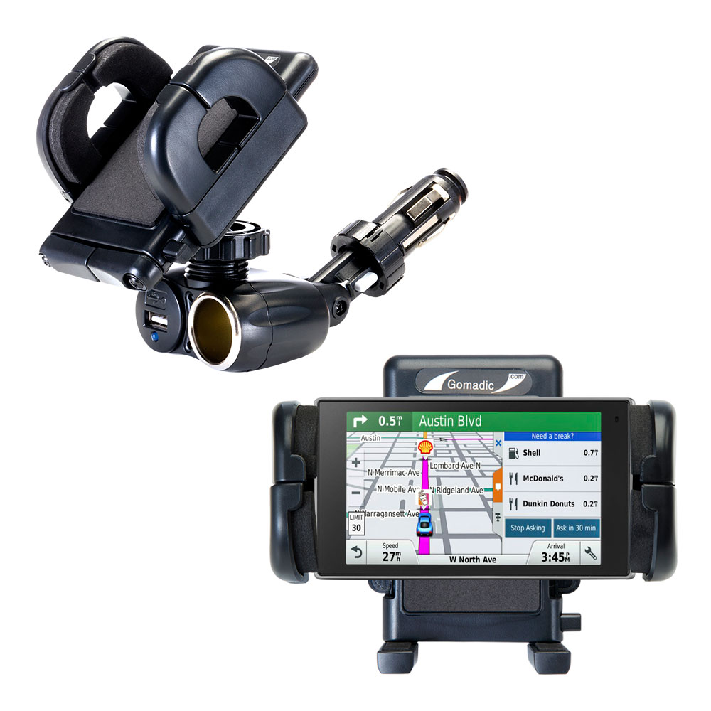 Cigarette Lighter Car Auto Holder Mount compatible with the Garmin DriveLuxe 50LMTHD