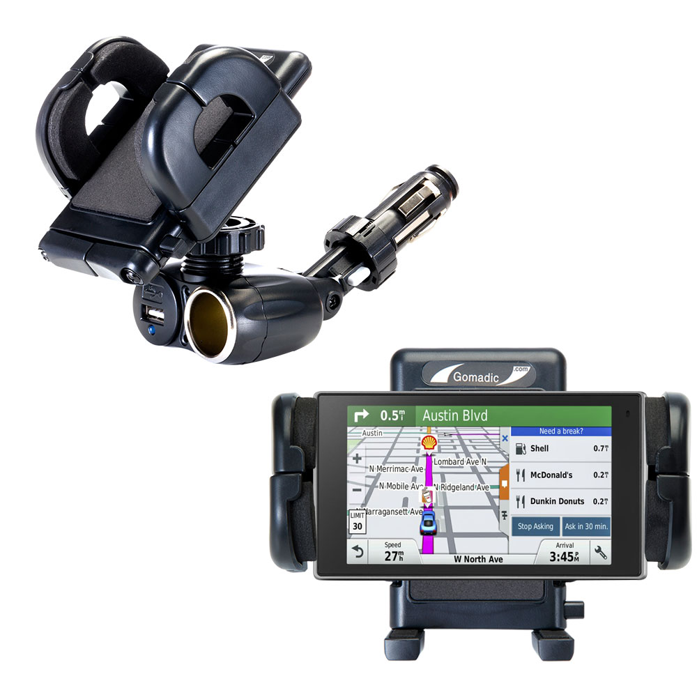 Cigarette Lighter Car Auto Holder Mount compatible with the Garmin DriveSmart 50LMTHD