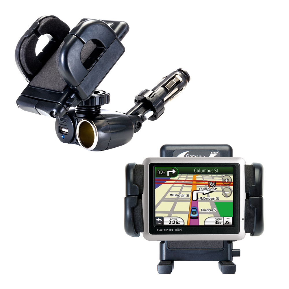 Cigarette Lighter Car Auto Holder Mount compatible with the Garmin Nuvi 1260T