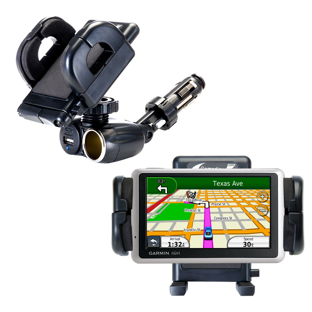 Cigarette Lighter Car Auto Holder Mount compatible with the Garmin Nuvi 1350T