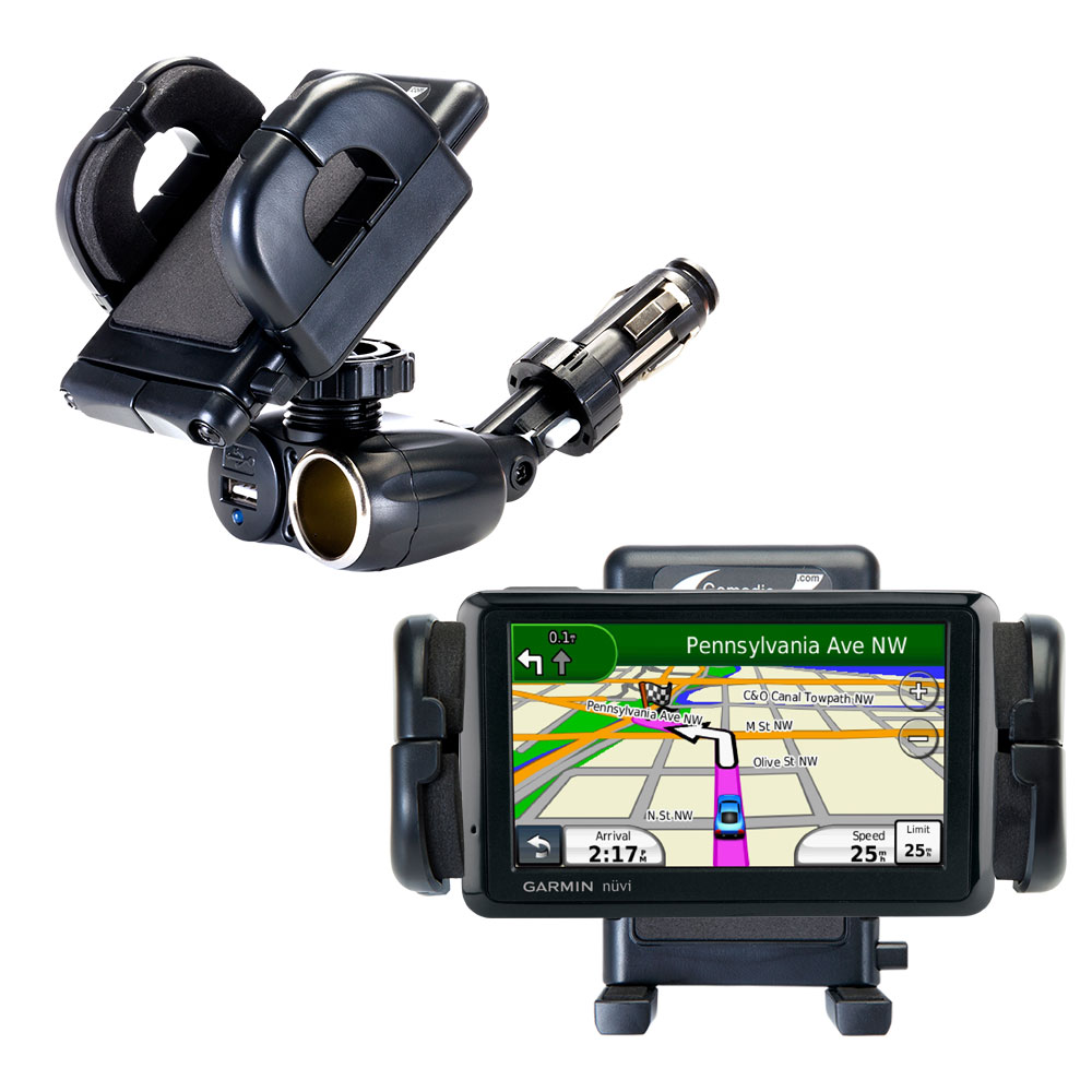 Cigarette Lighter Car Auto Holder Mount compatible with the Garmin Nuvi 1490T