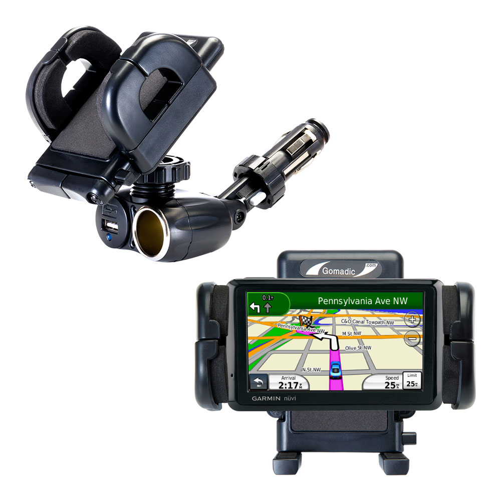 Cigarette Lighter Car Auto Holder Mount compatible with the Garmin Nuvi 205W