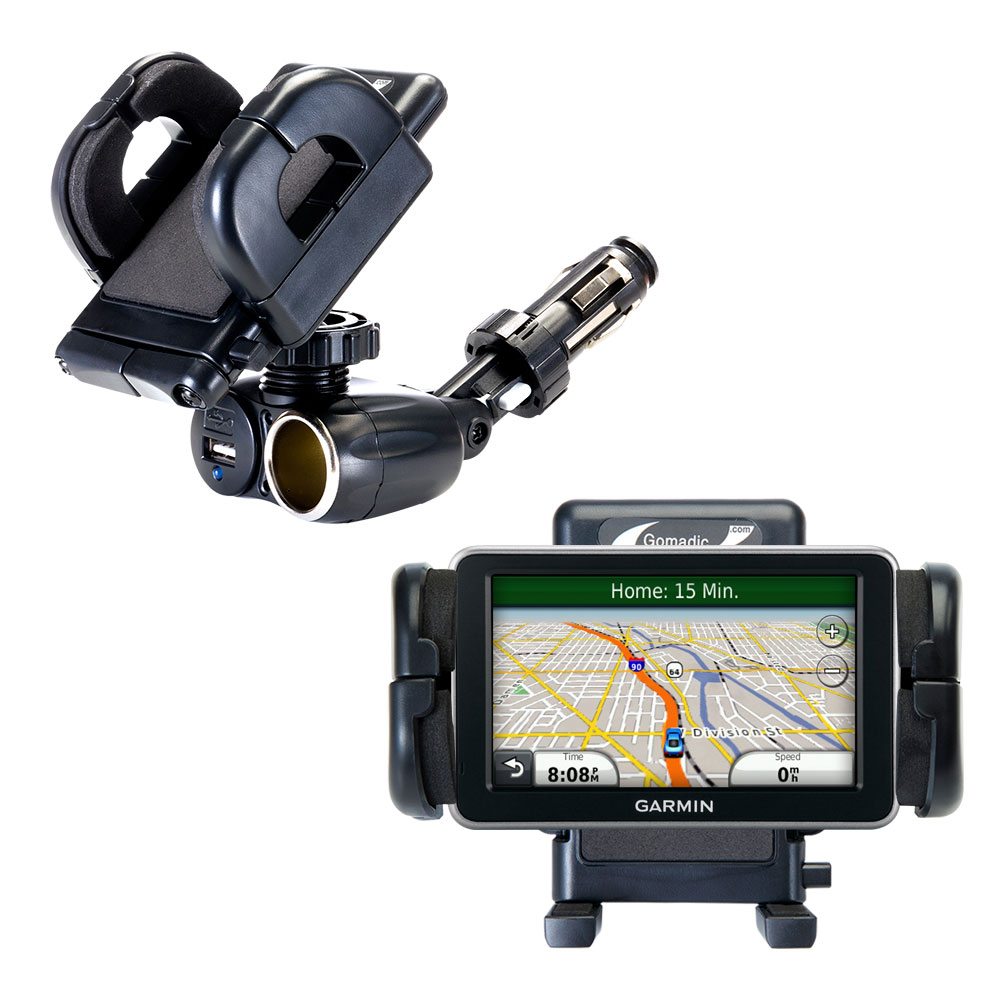 Cigarette Lighter Car Auto Holder Mount compatible with the Garmin Nuvi 2350