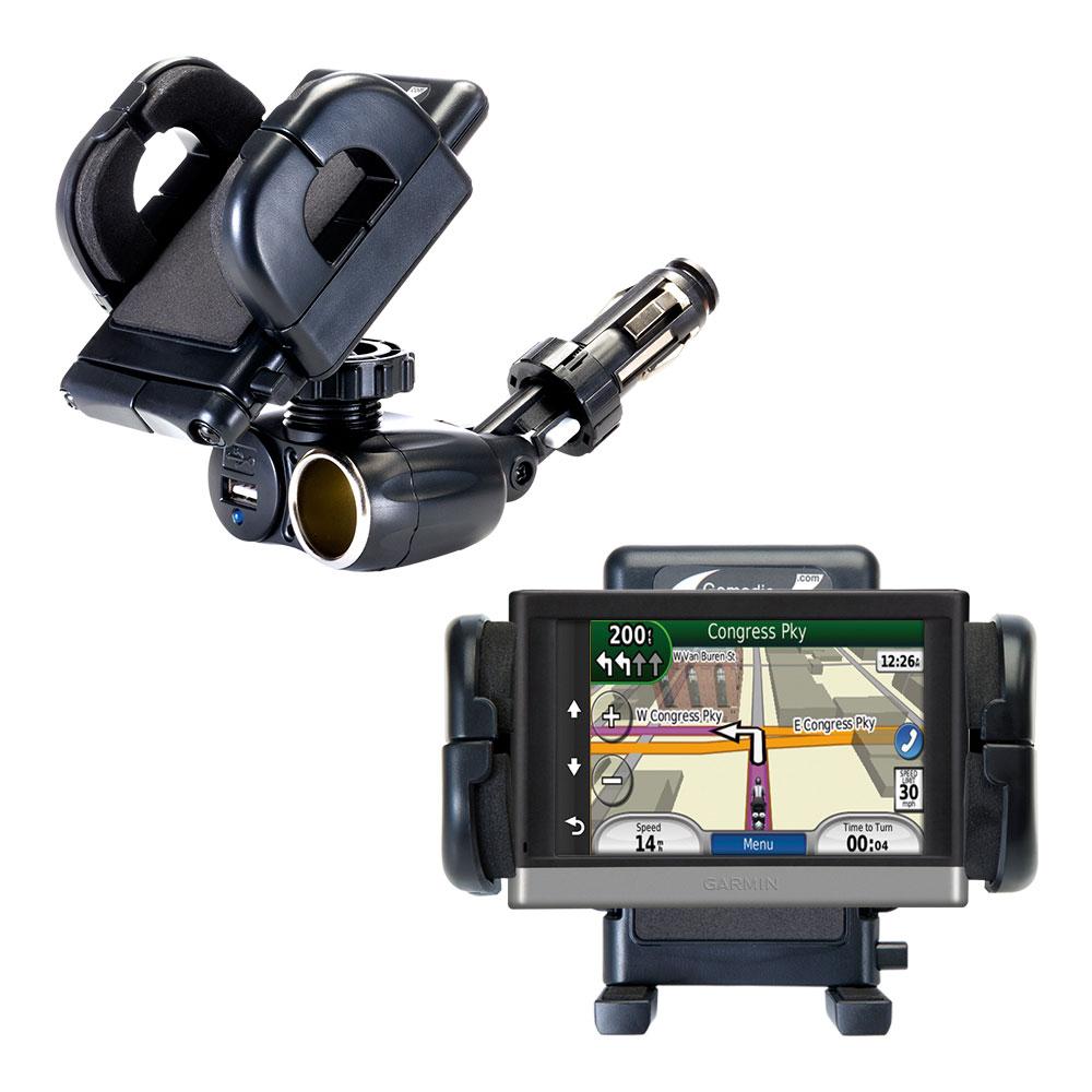 Cigarette Lighter Car Auto Holder Mount compatible with the Garmin nuvi 2557 / 2577 / 2597 LMT