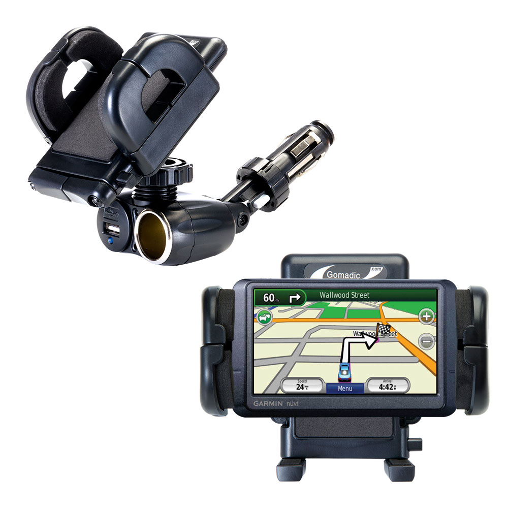 Cigarette Lighter Car Auto Holder Mount compatible with the Garmin Nuvi 265T