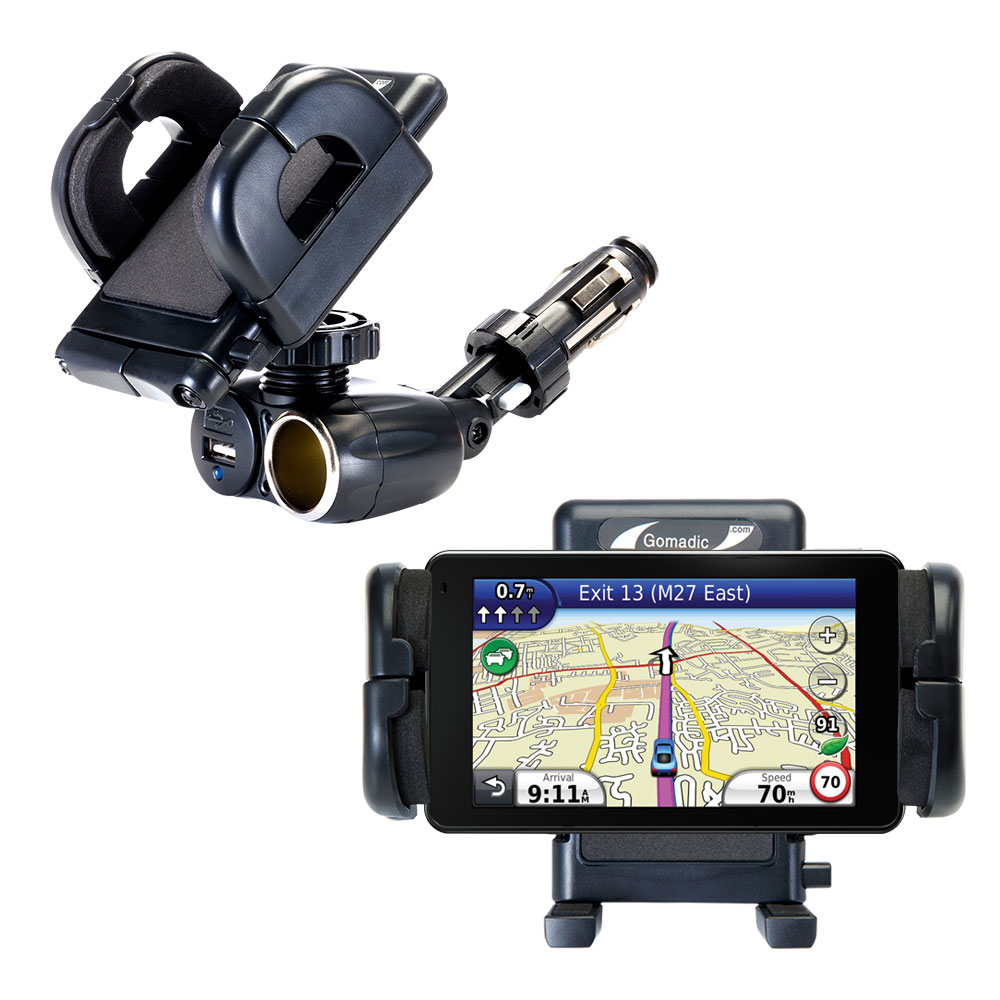 Cigarette Lighter Car Auto Holder Mount compatible with the Garmin Nuvi 3760T