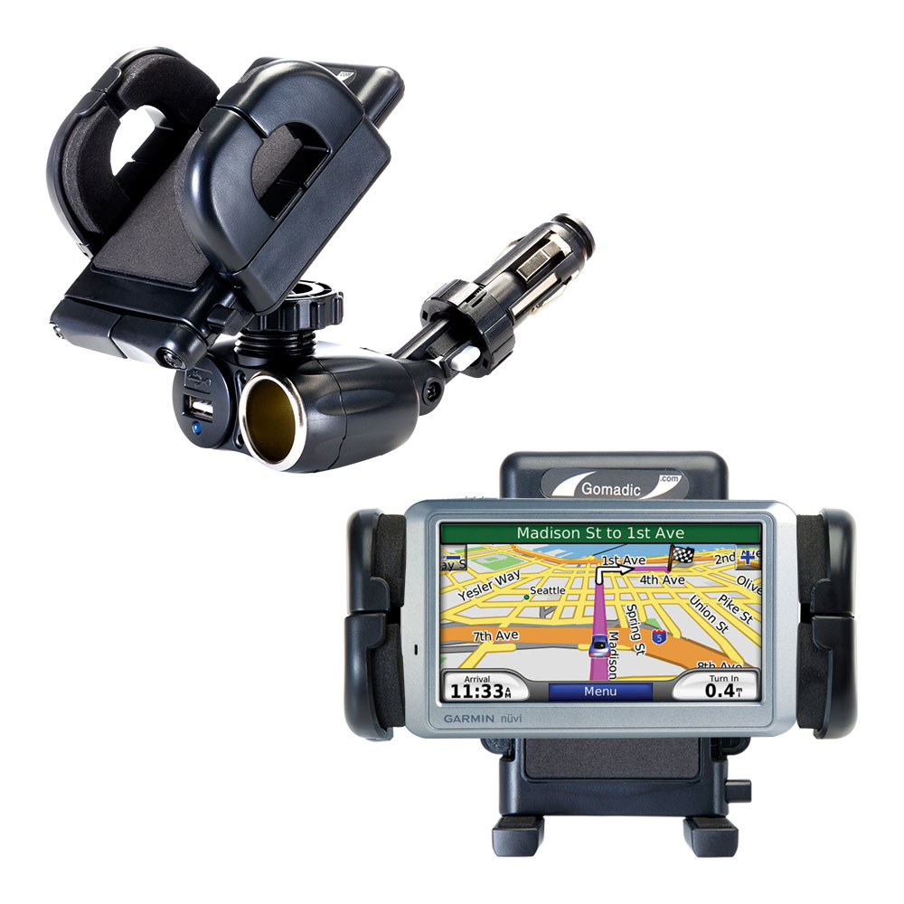 Cigarette Lighter Car Auto Holder Mount compatible with the Garmin Nuvi 755T