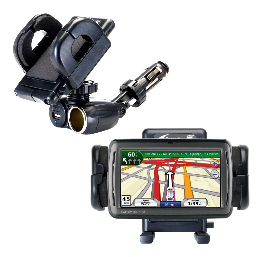 Cigarette Lighter Car Auto Holder Mount compatible with the Garmin Nuvi 860 865Tpro