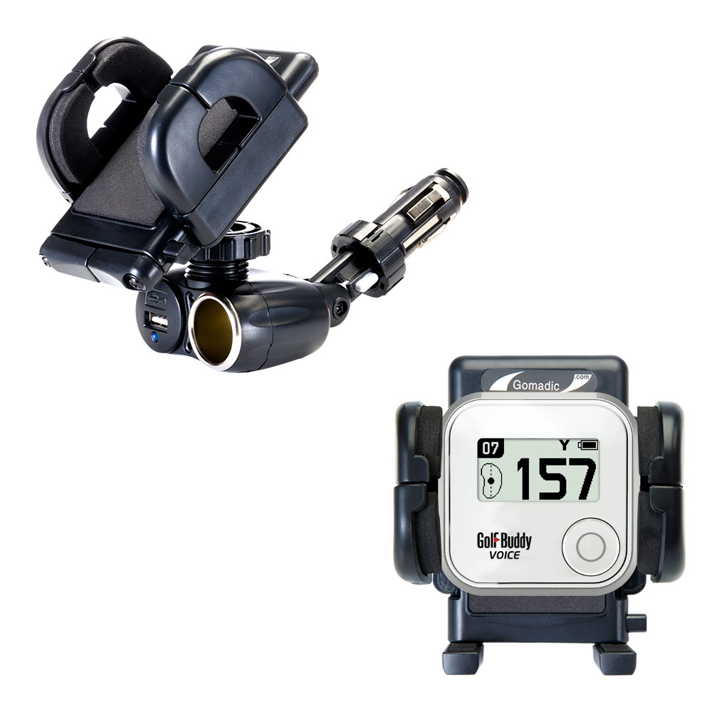 Cigarette Lighter Car Auto Holder Mount compatible with the Golf Buddy Voice GPS Rangefinder