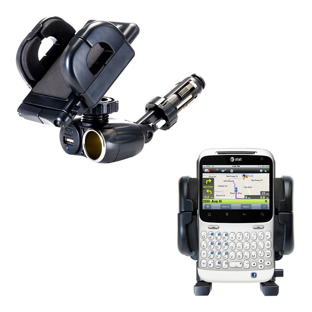 Cigarette Lighter Car Auto Holder Mount compatible with the HTC ChaCha