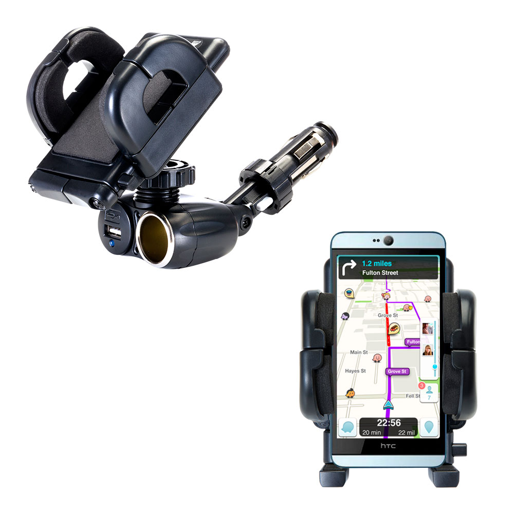 Cigarette Lighter Car Auto Holder Mount compatible with the HTC Desire 826