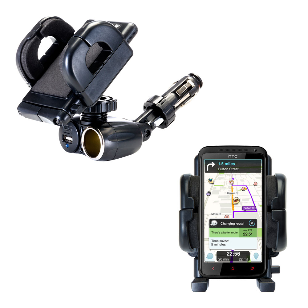Cigarette Lighter Car Auto Holder Mount compatible with the HTC One X