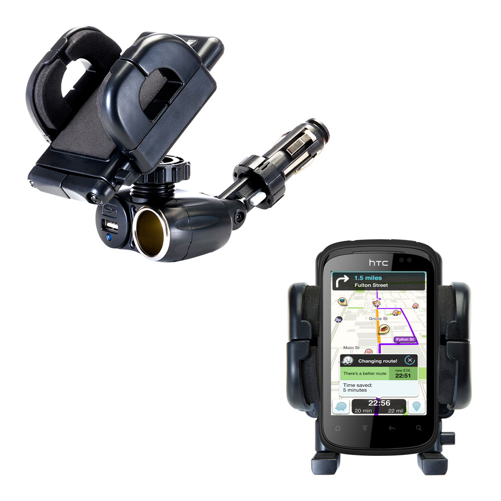 Cigarette Lighter Car Auto Holder Mount compatible with the HTC Pico