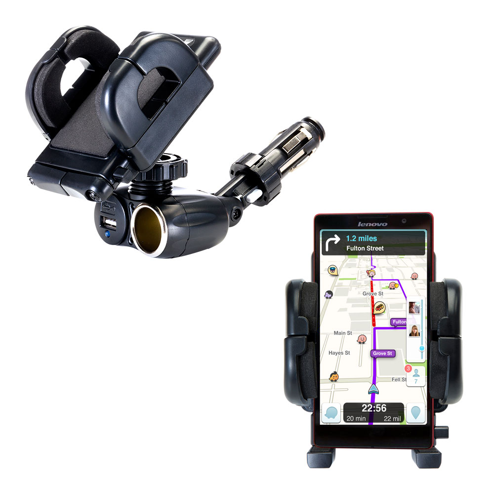 Cigarette Lighter Car Auto Holder Mount compatible with the Lenovo P90