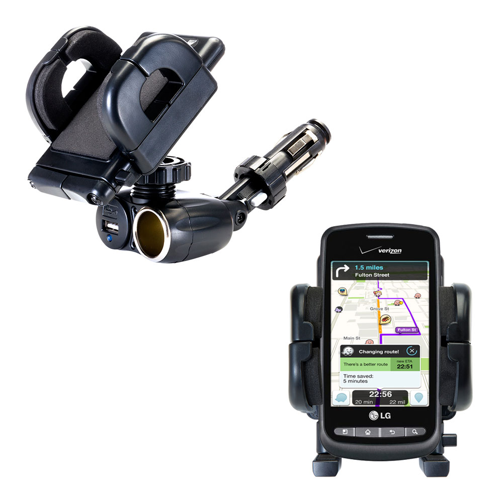 Cigarette Lighter Car Auto Holder Mount compatible with the LG Apex