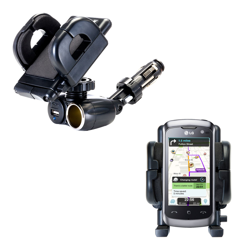 Cigarette Lighter Car Auto Holder Mount compatible with the LG Cookie Live