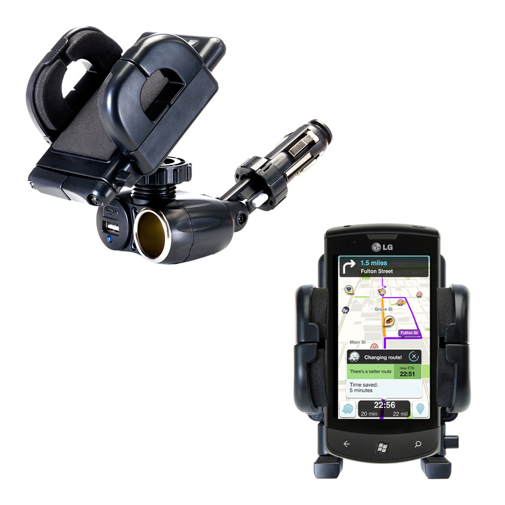 Cigarette Lighter Car Auto Holder Mount compatible with the LG E900h
