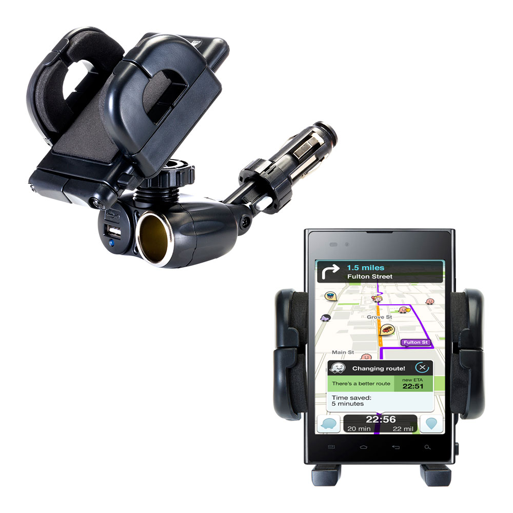 Cigarette Lighter Car Auto Holder Mount compatible with the LG F100L