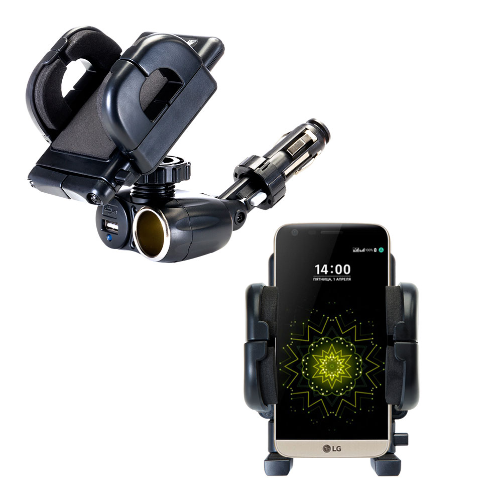 Cigarette Lighter Car Auto Holder Mount compatible with the LG G5