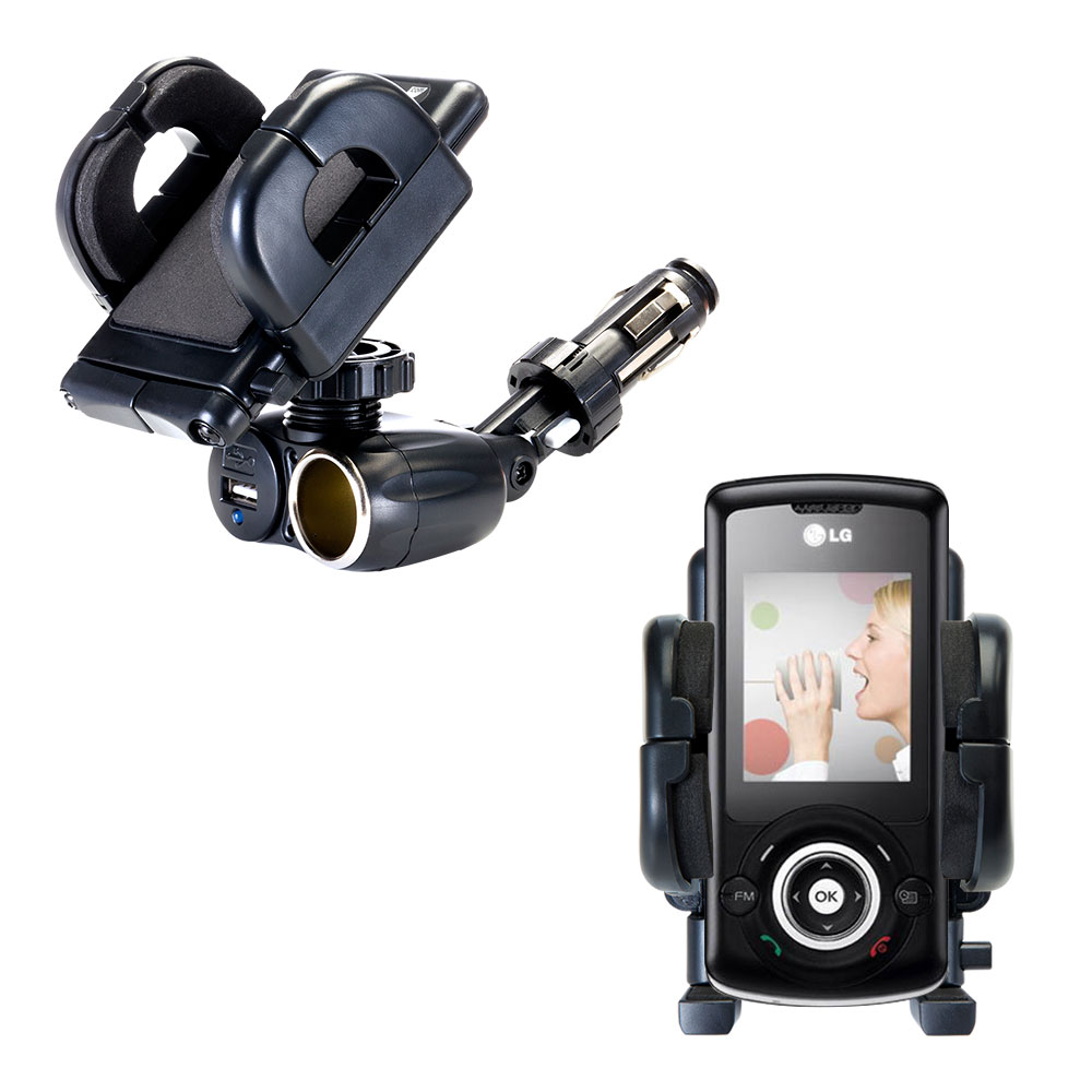 Cigarette Lighter Car Auto Holder Mount compatible with the LG GB130