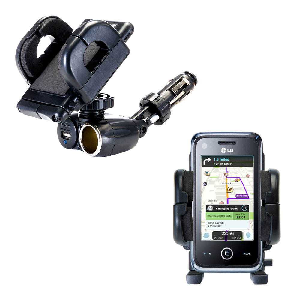 Cigarette Lighter Car Auto Holder Mount compatible with the LG GM730