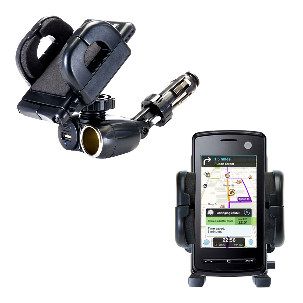 Cigarette Lighter Car Auto Holder Mount compatible with the LG  KB770