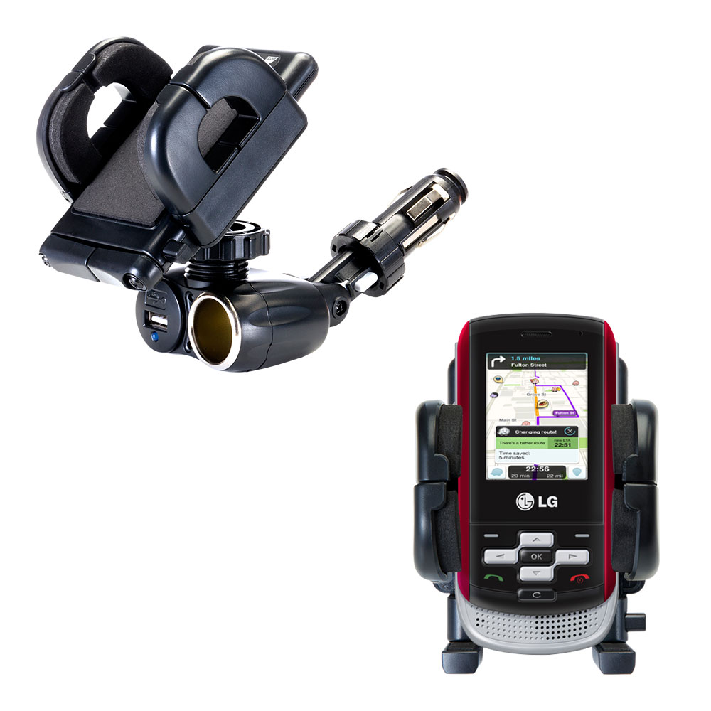 Cigarette Lighter Car Auto Holder Mount compatible with the LG KP265