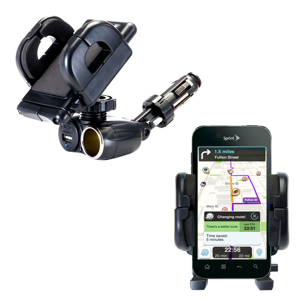 Cigarette Lighter Car Auto Holder Mount compatible with the LG Marquee