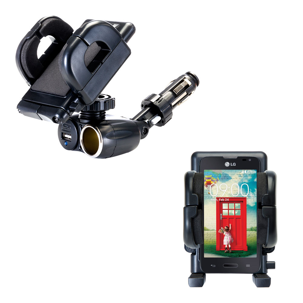 Cigarette Lighter Car Auto Holder Mount compatible with the LG Optimus L70