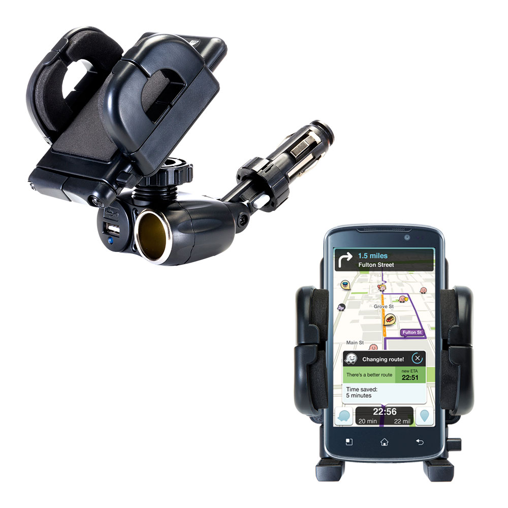 Cigarette Lighter Car Auto Holder Mount compatible with the LG Optimus True HD
