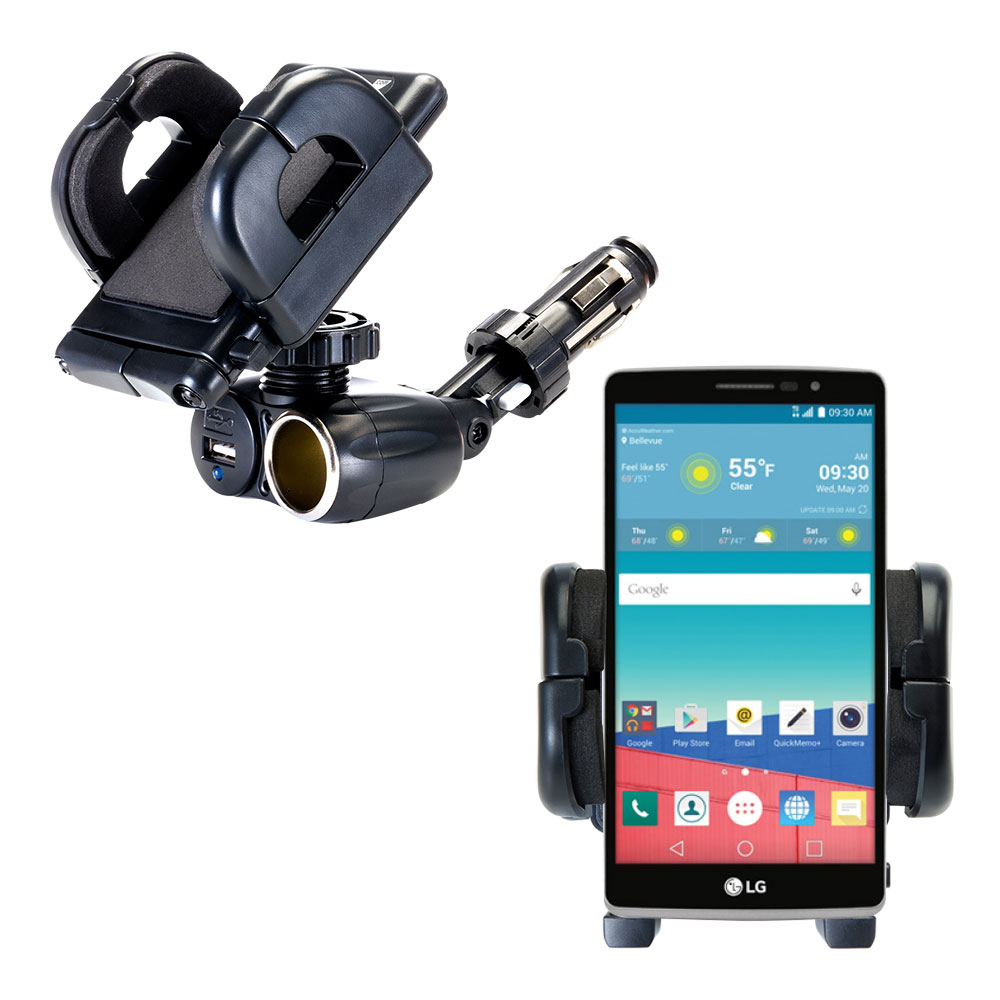 Cigarette Lighter Car Auto Holder Mount compatible with the LG Stylo 3