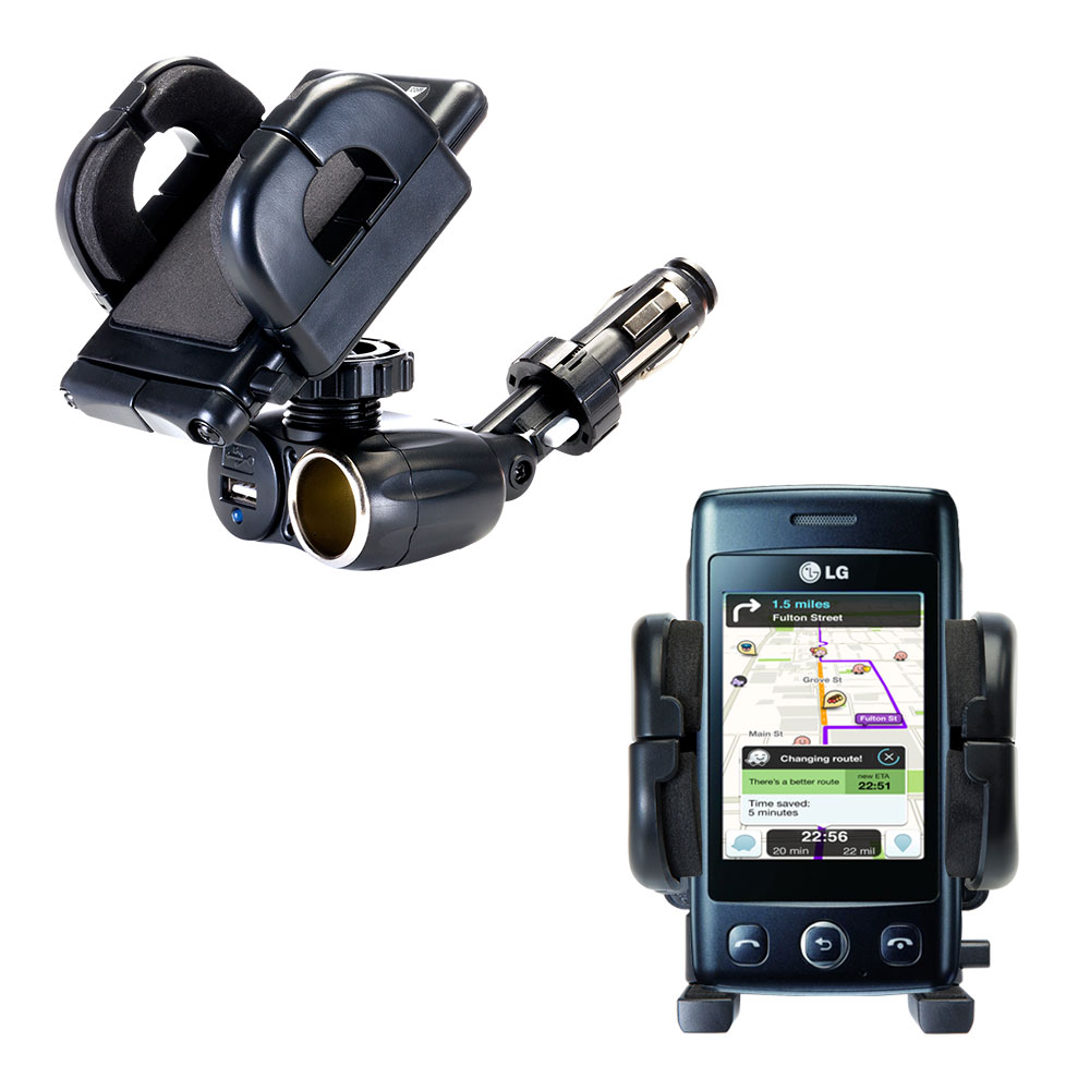 Cigarette Lighter Car Auto Holder Mount compatible with the LG T300
