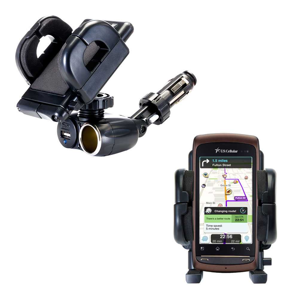 Cigarette Lighter Car Auto Holder Mount compatible with the LG US740