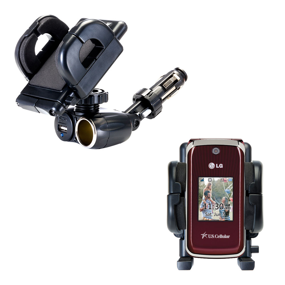 Cigarette Lighter Car Auto Holder Mount compatible with the LG Wine II