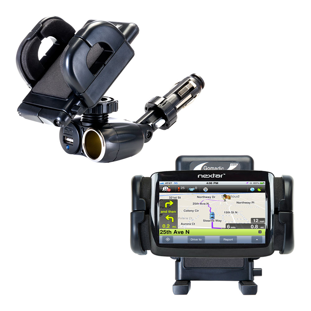 Cigarette Lighter Car Auto Holder Mount compatible with the Nextar 43LT