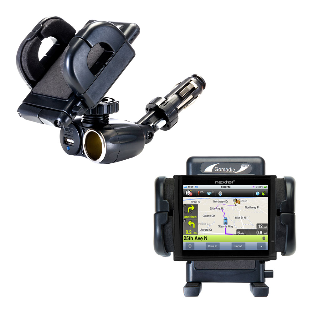 Cigarette Lighter Car Auto Holder Mount compatible with the Nextar ME