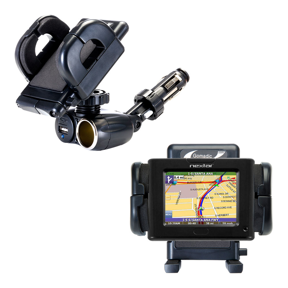 Cigarette Lighter Car Auto Holder Mount compatible with the Nextar P3