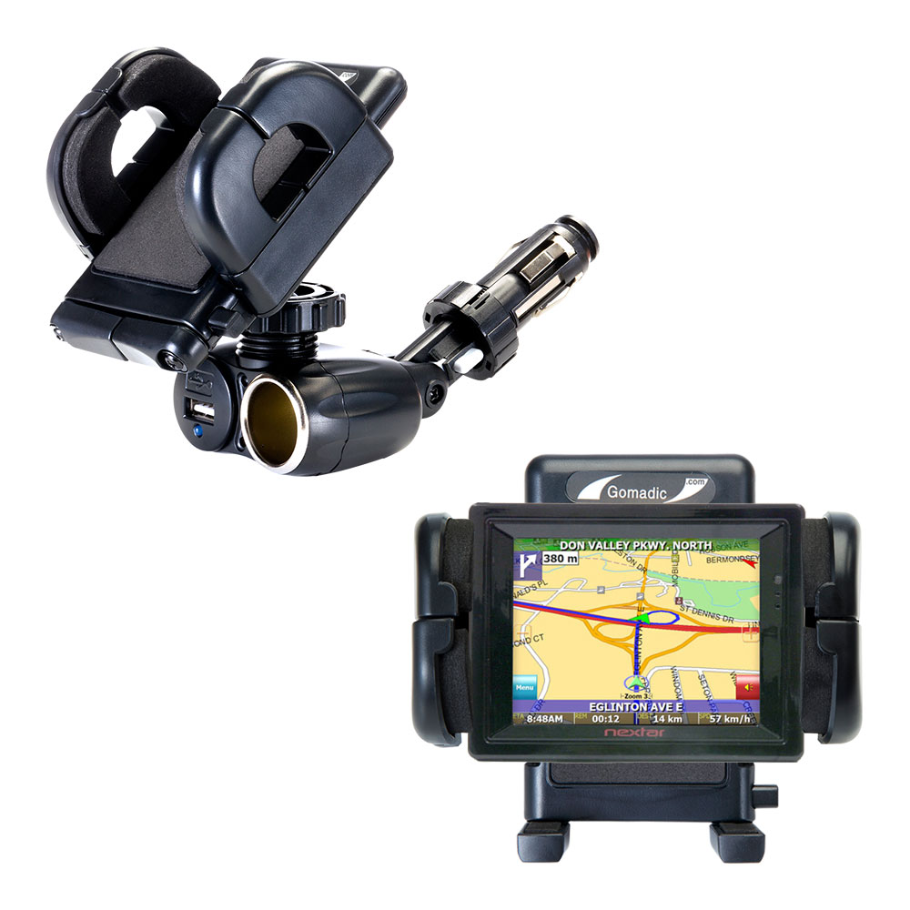 Cigarette Lighter Car Auto Holder Mount compatible with the Nextar SNAP3