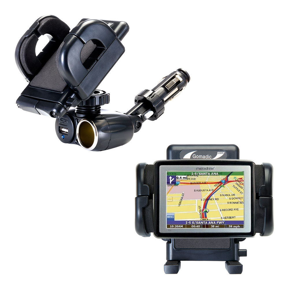 Cigarette Lighter Car Auto Holder Mount compatible with the Nextar X3-T