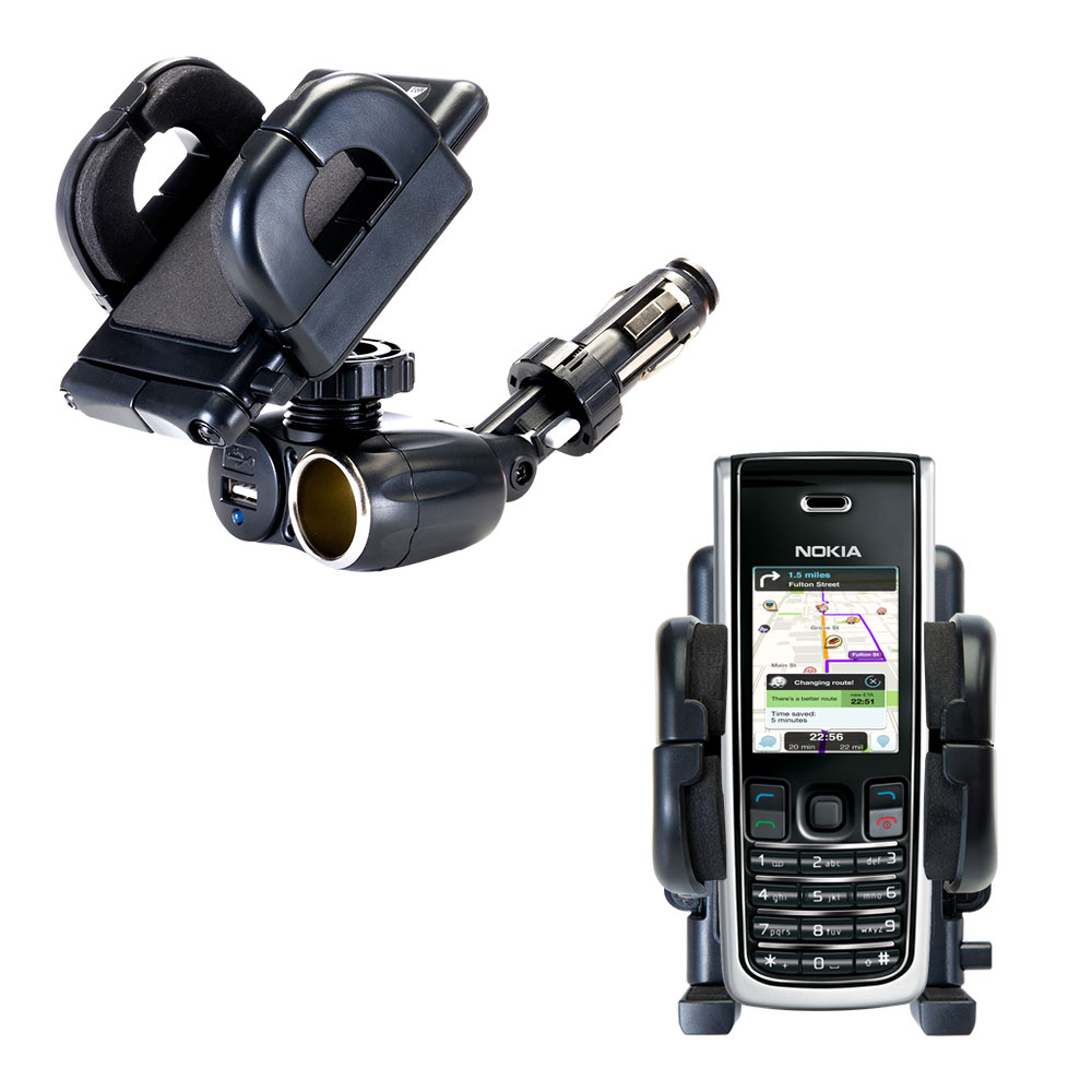 Cigarette Lighter Car Auto Holder Mount compatible with the Nokia 2865i 3155i
